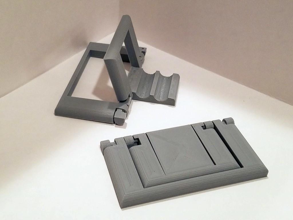 d8780cd4ffc104db8dbc87b0899be875_display_large.jpg Download free STL file Parametric Folding Phone Stand • 3D printing design, Zippityboomba