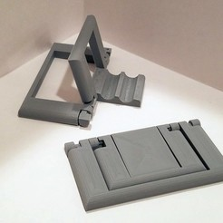 Free 3D printer designs Parametric Folding Phone Stand, Zippityboomba