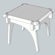 Plan imprimante 3D gatuit Dutch table, version 2, Zippityboomba