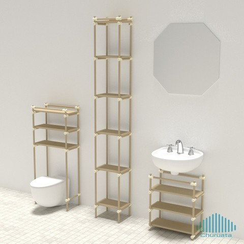 bath02.jpg Download free STL file Just Another Modular Furniture Shelving System • 3D printable design, Churuata3D
