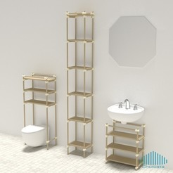 archivos stl Just Another Modular Furniture Shelving System gratis, Churuata3D