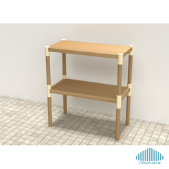 Download free 3D printing files Modular Furniture Connectors with Hardware, Churuata3D