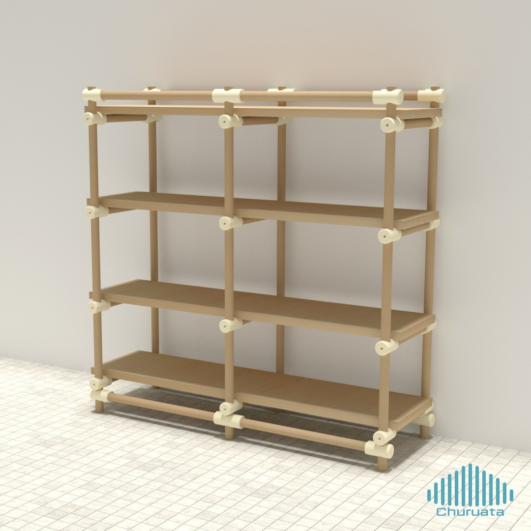 bath01.jpg Download free STL file Just Another Modular Furniture Shelving System • 3D printable design, Churuata3D