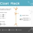Download free 3D printing templates Coat Rack, Churuata3D