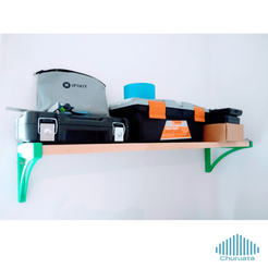 Descargar modelos 3D gratis 3D Printable Shelf, Churuata3D