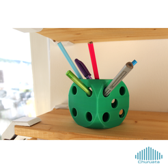 Free 3D print files Dice Pencil Holder, Churuata3D