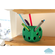 2.png Download free STL file Dice Pencil Holder • 3D printer design, Churuata3D