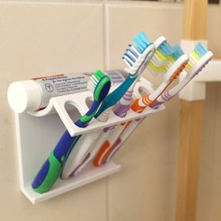 Download free 3D printing files Brush Teeth Holder, Churuata3D
