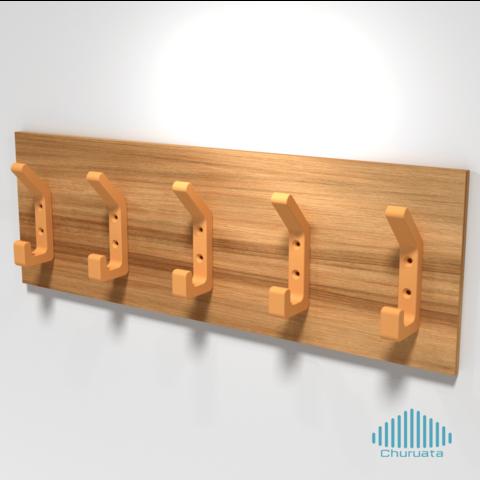 Free 3D printer designs Simple Hanger, Churuata3D