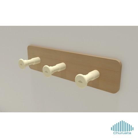 hanger03.jpg Download free STL file Towel Hanger • 3D printing template, Churuata3D
