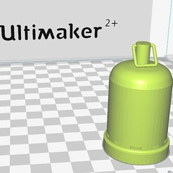 3D printing model Gas cylinder 13k model train, biddle