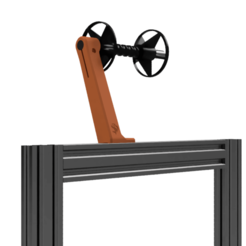 Versatile_Spool_Holder_Extrsn_2.png Download free STL file Versatile Spool Holder for 2020 extrusion frames • 3D printer object, Stamos