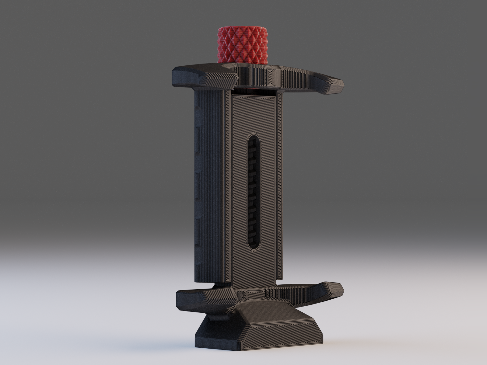 phone clamp1.png Download free STL file Tripod Mobile Phone Clamp V2 • Design to 3D print, Stamos