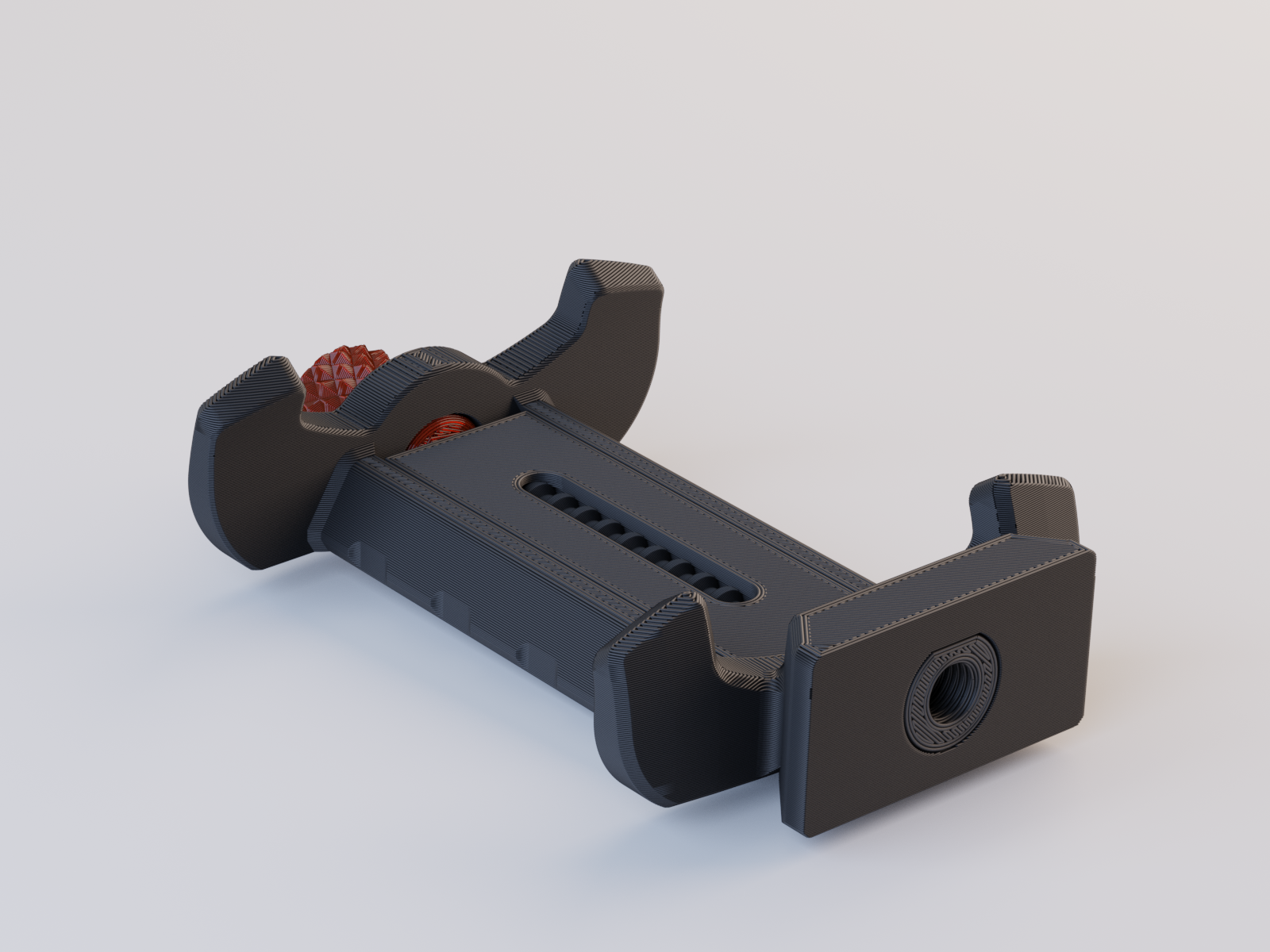 phone clamp3.png Download free STL file Tripod Mobile Phone Clamp V2 • Design to 3D print, Stamos