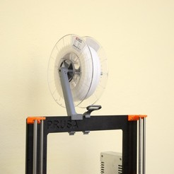 DSC_2173.jpg Download free STL file Versatile Spool Holder for Prusa MK2/3 (and 2020 extrusion frames)) • Model to 3D print, Stamos