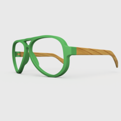 RA Glasses.png Download free STL file Aviator Sunglasses • 3D printing model, Stamos