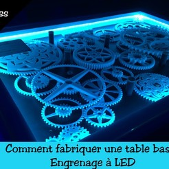 photo video table basse.jpg Download STL file design coffee table gears / gear led • 3D printable model, hipkiss974