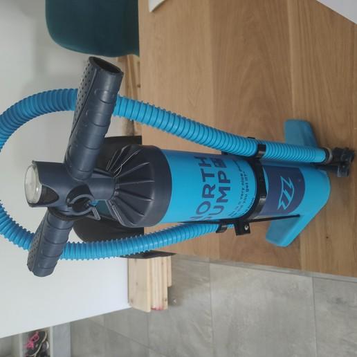 Download 3D printer designs kitesurfing pump hose holder, inflatable paddle, canoe kayak, hipkiss974