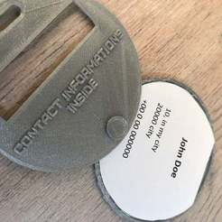 IMG_9604.jpg Download free STL file luggage tag etiquette valise • Template to 3D print, Michel6