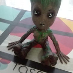 Download free 3D printing designs Baby Groot, RubenMenendezIglesias