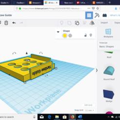 Fichier 3D gratuit Gabarit de dés Yardzee, MikeMcGlugritch