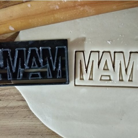 Free 3D printer designs Mom cookie cutter, 10cm, ErickArmenta