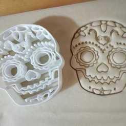 Free STL Skull Cookie Cutter, 7.5cm, cortador calavera dia de muertos, ErickArmenta