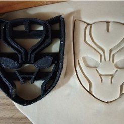 Free 3d model Black Panther Cookie cutter, ErickArmenta