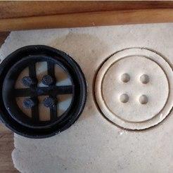 Download free 3D printer designs Button cookie cutter, ErickArmenta