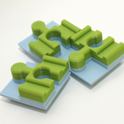 Download free STL file Duplo To Brio Converter Brick - rmx • 3D print template, MixedGears