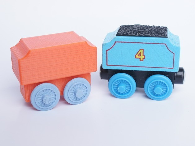 83cfec3b707dbac83f8d18d89a5bbb01_preview_featured.JPG Download free STL file Brio Style Tender Wagon • Object to 3D print, MixedGears