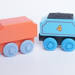Download free 3D printer templates Brio Style Tender Wagon, MixedGears