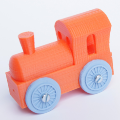 Free 3D printer files Brio mini locomotive upscalled to regular, MixedGears