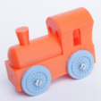Download free 3D printing models Brio mini locomotive upscalled to regular, MixedGears