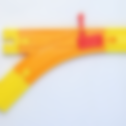 Download free 3D printing models Train Turnout 45 degrees - for Brio railway, MixedGears