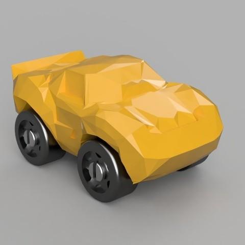 Télécharger objet 3D gratuit Corvette - Compatible Duplo, MixedGears