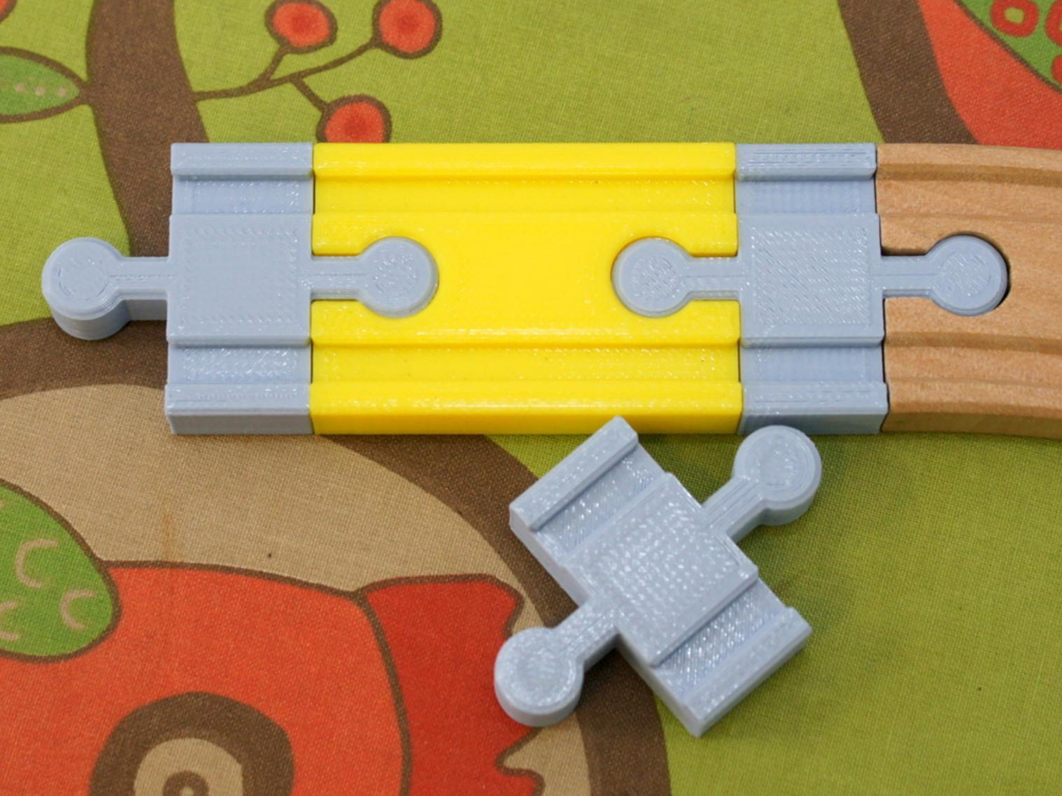 Capture d'écran 2017-09-13 à 11.19.38.png Download free STL file  Toy Wood Train Track - Double Connector Shorter - rmx • Template to 3D print, MixedGears