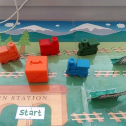Train_Trip.jpg Download free STL file Dice for Train Trip • 3D printer model, MixedGears