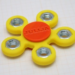 Free Flower Like Fidget With M8 Nuts 3D printer file, MixedGears