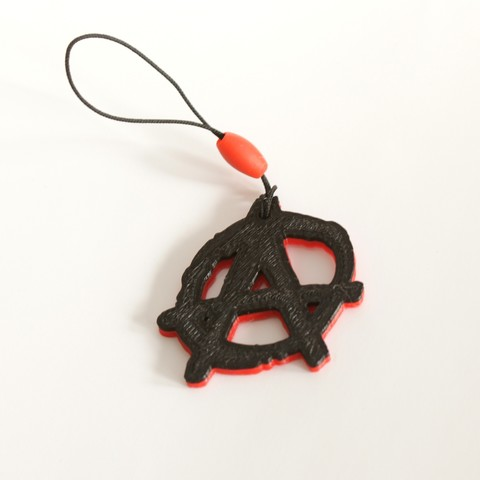 Download free 3D model Anarchy Keychain, MixedGears