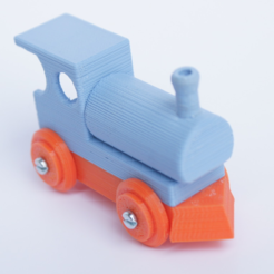 Download free STL  BRIO like Steam Engine - Upgrade and assembled, MixedGears