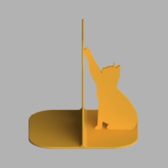 Download STL file Cat Bookend • 3D printable object, MixedGears