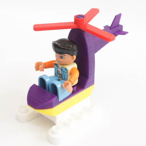 Free 3D model Duplo Compatible Mini Helicopter, MixedGears