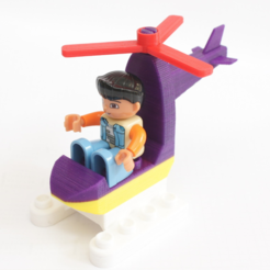 Download free 3D print files Duplo Compatible Mini Helicopter, MixedGears