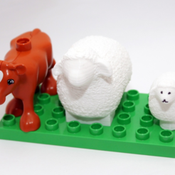 Free stl file Wooly Sheep Duplo mini & MAXI, MixedGears