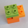 Free 3d printer designs LEGO DUPLO - Compatible Brick 2x2 - 1/2 height, MixedGears