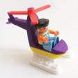 Free Duplo Compatible Mini Helicopter 3D model, MixedGears