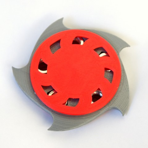 Download STL file Circular Saw Blade Style Spinner With M8 Nuts  • 3D printable model, MixedGears