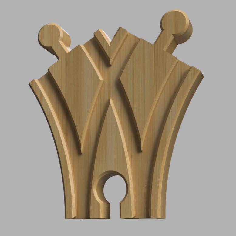 mini kretnica_sq.png Download free STL file Mini switch point for wooden track • 3D printer model, MixedGears