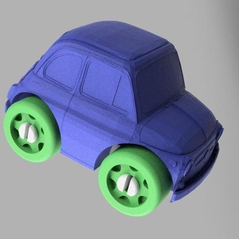 Imprimir en 3D gratis Fiat 500 - Compatible con Duplo, MixedGears